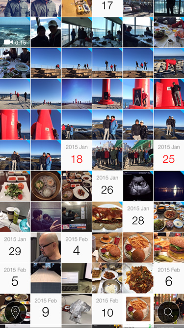 #Photos thumbnails without grouping